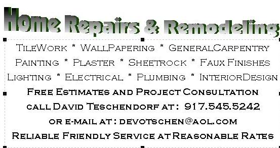 home remodeling business cards